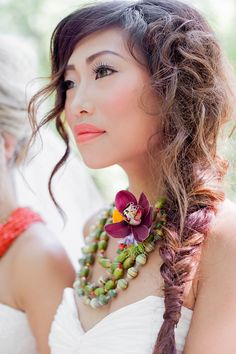 side braid, photo by Brooke Michaelson http://ruffledblog.com/out-of-africa-inspiration-shoot #weddinghair #hair