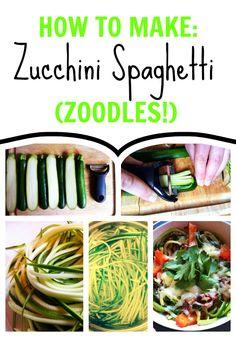 how to make zucchini spaghetti, easy suppers, zucchini spaghettizoodl
