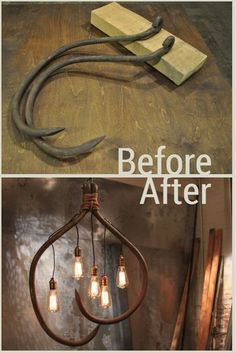 Roofing Hooks Become an Amazing Industrial-Style Chandelier