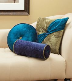 Velvet accents pillows are sew pretty to update your home decor! #sewjoann