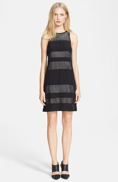 Jay Godfrey 'Emmerson' Mesh Stripe Jersey Dress available at #Nordstrom