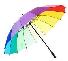 Parapluie Multicolore Rainbow Fashion Tendance. Via Bell Dandy.
