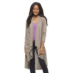 Junior's Textured Hooded Duster Red