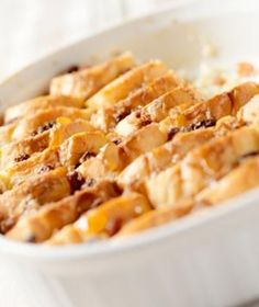 Udis #Gluten-Free Cinnamon Raisin Bread Pudding. this recipe oozes delicious raisins and apples, which lends the pudding its smooth, custard-like consistency