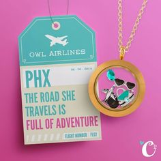 Origami Owl look! Are you a jet setter? A travel junkie? Share your best travel experience!