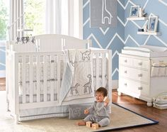 Neutral Nursery Idea | Pottery Barn Kids #potterybarnkids #spring2014