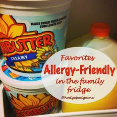 Allergy-Friendly Favorites in the Family Fridge (and, of course, fudge :)