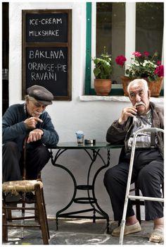 Greek men enjoy of their old day.