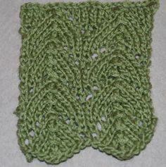 Horseshoe Lace: Horseshoe Lace worked over 21 stitches.