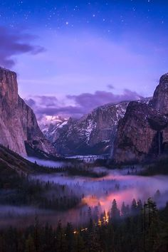 Valley Fog, Yosemite, California ♥ ♥ www.paintingyouwithwords.com dream