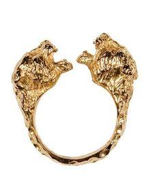 Jaguar Ring By Fleathers #ring #jewelry #gold #royal #fashion #retro  #original #fabulous