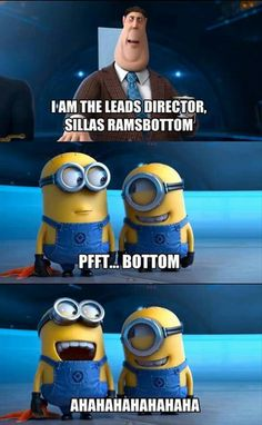 Hahaha :) minions. If you haven't seen Despicable Me 2 yet, go. Now.