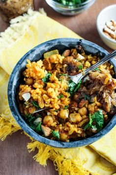 Pakistani Chickpea Pulao with Hot-Sweet Date-Onion Chutney / by Katie at the Kitchen Door