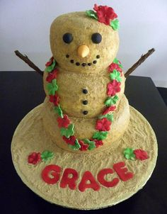 Christmas in July themed cake :) LOVED this cake!!