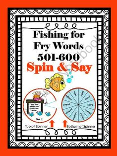 Fishing for Fry Words 501-600 from Andrea'sArtifacts on TeachersNotebook.com -  (38 pages)  - Fish for 501-600 Fry words with these fun, spin and say spinners!