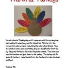 This is a fun little turkey to make with the kids to remind them what they are thankful for.  Print the pages on different colored paper or cardsto...