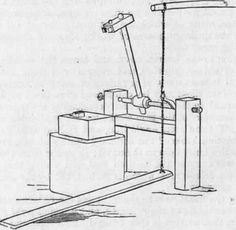 Treadle sledgehammer.  The smithing possibilities!  Or just a wonderful way to crush cans.