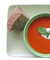 Lynhurtig tomatsuppe
