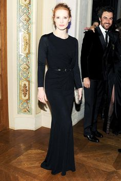 Jessica Chastain in Givenchy, LBD done sleek and sophisticated