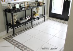 No need to replace floor tile you dislike. Painting it saves money & hassle.