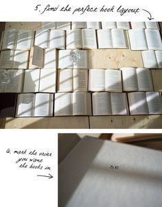 CONT'D Step 3 OLD BOOKS HEADBOARD - arrange the books how you like