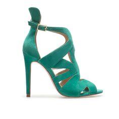 Green sandals - ZARA £50