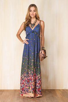 vestido longo - Adoro Farm