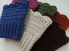 crochet boot cuff pattern free | Crochet Pattern: Scalloped Boot Cuffs | ShopLocket