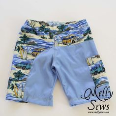Boys Swim Trunks Tutorial - quick and easy and OH SO cute!