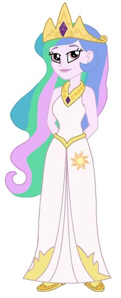 Equestria Girls: Princess Celestia by CruellaDeVil84.deviantart.com on @DeviantART