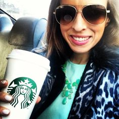 On the move in my Stella & Dot Linden Necklace with a much needed latte. #NYFW #selfie - xo @Jill Lavallee Summer
