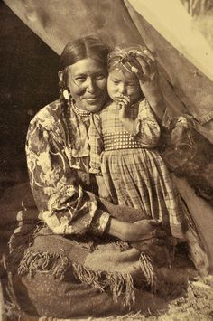 :::::::::::: Antique Photograph ::::::::::::  Beautiful picture of loving Mother and Child.