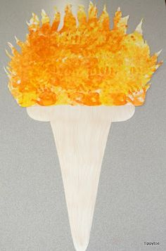 Via the blog Tippytoe Crafts: Class Olympic Torch...#olympics #crafts