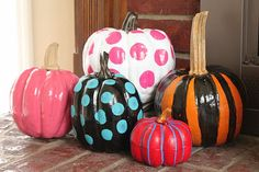 painted pumpkins. front porch for fall?