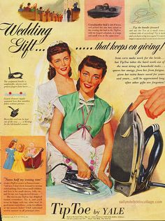 Image detail for -Housewife irony-Tip Toe Iron 1948 on Flickr.The Wedding Gift that ...