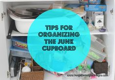 Awesome tips for organizing the junk drawer or junk cupboards