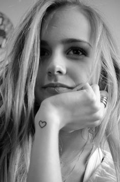 Tiny heart tattoo. I draw these everywhere, on paper, on myself, on anyone who will let me haha. Not sure where if get it, but if consider it