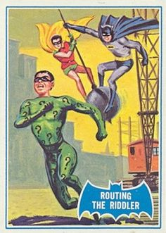 Topps Batman card: Routing the Riddler