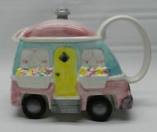 """Applause""""  WHEELEES """"  camper with moving wheels   TEAPOT Ebay"""