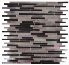 Matchstix Plum Crazy Glass Tile contemporary bathroom tile