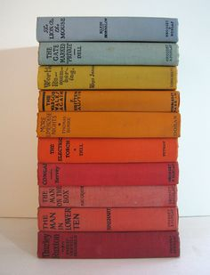 vintage books in color order. #coloreveryday