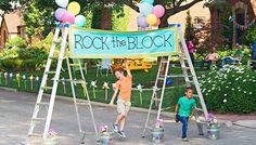 Kids under Rock the Block banner