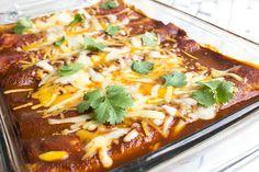 Cheese Enchiladas from SkinnyMom.com