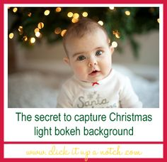 The Secret to Capture Christmas Light Bokeh Background