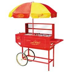 """Carnival Hot Dog Cart with Umbrella » For all those times when you've said """"I could really use a hot dog cart!"""" :)"""