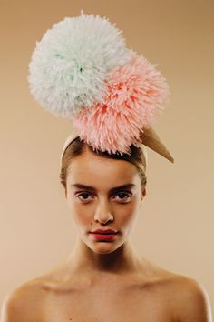 pom pom ice cream hat