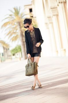 leopard shoes, fashion, celin luggag, style, blous, outfit, wendi lookbook, oliv, spot
