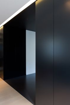 // Like the floor transition detail and material selections by Belgian architect Filip Deslee //