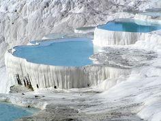 Thermal springs,  Pamukkale, Turkey