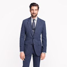Ludlow fielding suit jacket with double vent in English wool